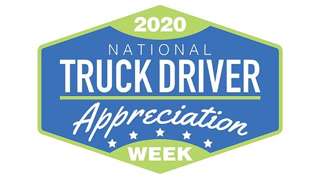 2020 National Truck Driver Appreciation Week Logo